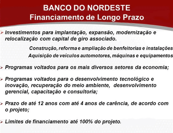 Banco do Nordeste Financiamento de Longo Prazo